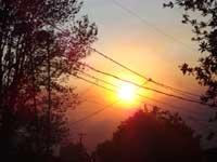 こわいぐらいきれいな夕焼け