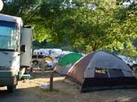 Tent village - side