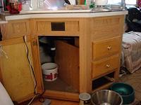 キッチン下が水溜りに